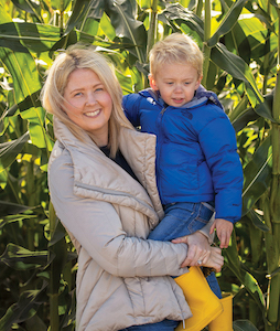 Lauren Lippincott with her son Graham, suffers from five diseases, including celiac.
