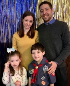 Erica, Tony and their children Frankie and Mia Giuliani