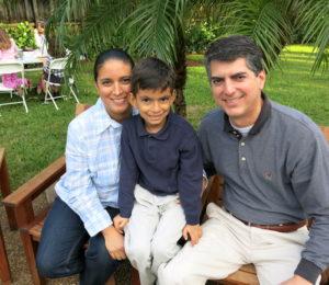 Maria, son Francisco,  and Francisco 'Frank' Pagés