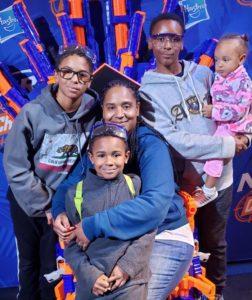 Ayana Alvarez & family (from left): Daryl Jr., Rio, Ayana, Mister & Heavenly