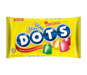 Dots Halloween snack-size boxes