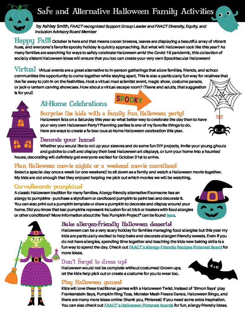FAACT Safe Halloween Activities