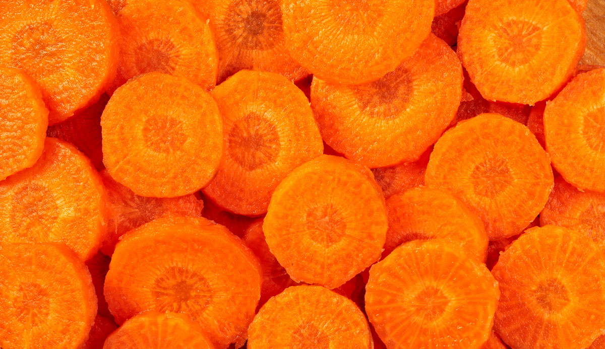 A slices of carrot, cross section,