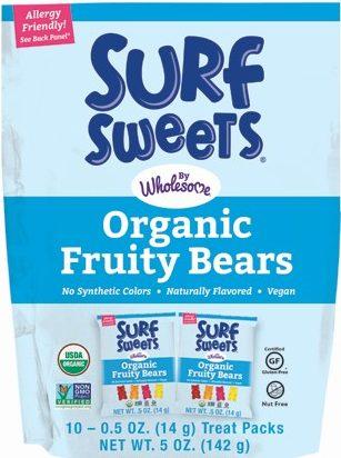 Surf Sweets Organic Fruity Bears Valentine's Day treats