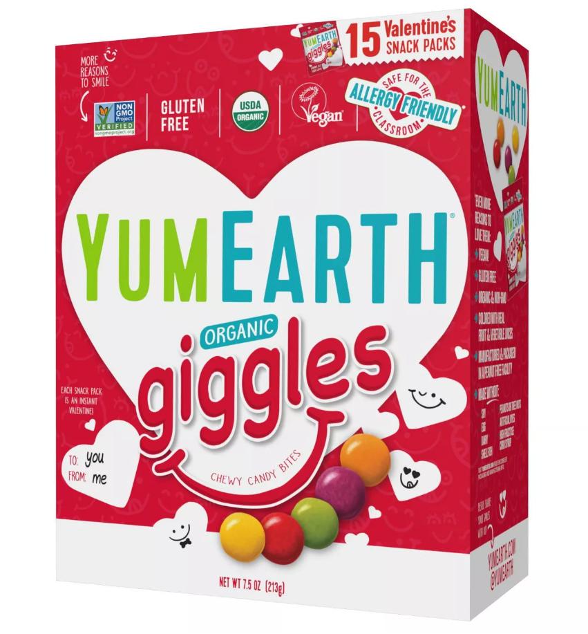 YumEarth Organic Valentine's Day Giggles treats