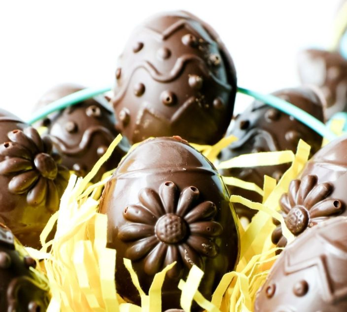 Chocolate Cookie Dough Easter Eggs
